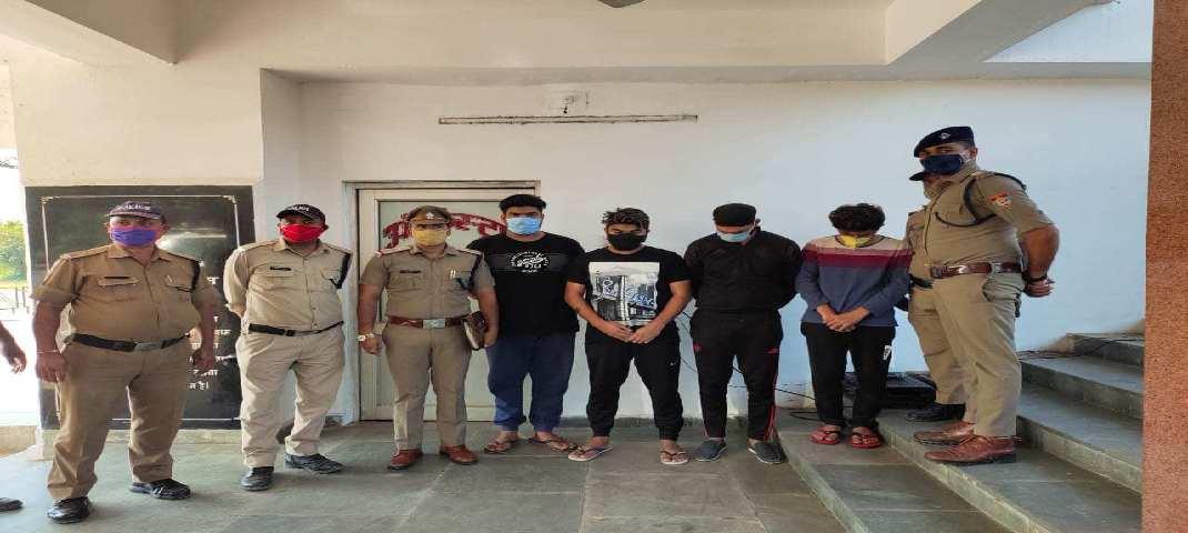 दून पुलिस ने आन लाइन सट्टे के अवैध करोबार में लिप्त अन्तर्राज्यीय गिरोह का किया पर्दाफाश, अम्बाला से 04 अभियुक्तों गिरफ्तार 3