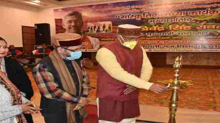 प्रशिक्षण एवं अध्ययन भ्रमण पर आये जम्मू कश्मीर के निर्वाचित पंचायत प्रतिनिधियों का मुख्यमंत्री त्रिवेन्द्र सिंह रावत ने किया स्वागत 1