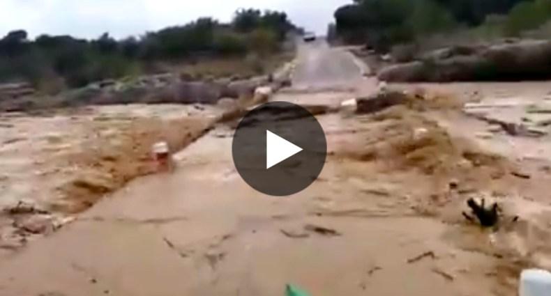 crecida del río en Vinaroz
