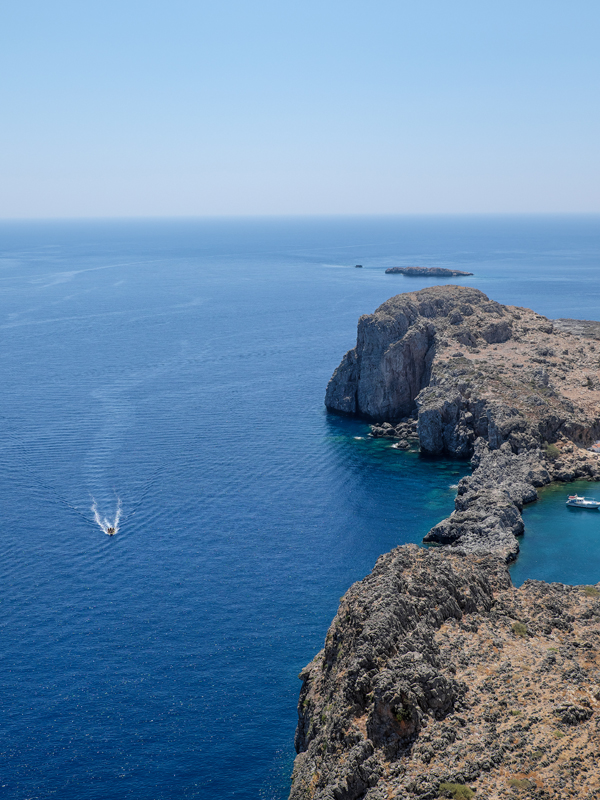 The view from the acropolis at Lindos | Hello Victoria