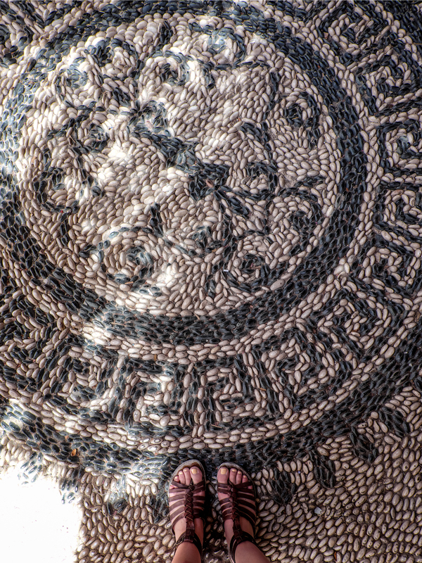 The beautiful pebble mosaic streets of Lindos, Rhodes | Hello Victoria