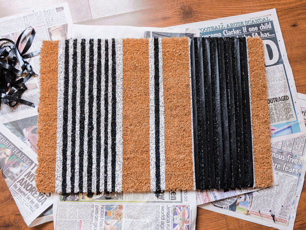 DY striped doormat | Hello Victoria