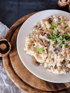 Mushroom and white wine risotto | Hello Victoria