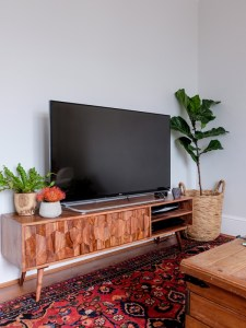 Modern rosewood media cabinet from Swoon Editions | Hello Victoria