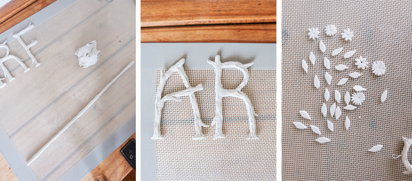DIY branching monogram ornaments | Hello Victoria