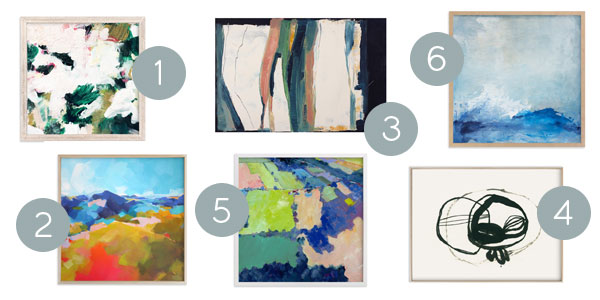 Abstract paintings from Minted | Hello Victoria