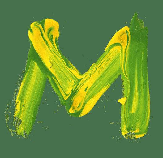 Brazil-paint-font-letter-M – Helloooo…  Vinoth …!
