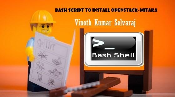 Bash script to install openstack-Mitaka in ubuntu 14.04LTS