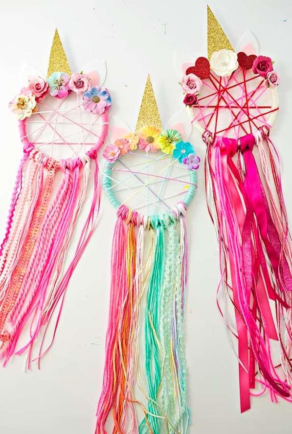 Unicorn party ideas, unicorn dream catcher