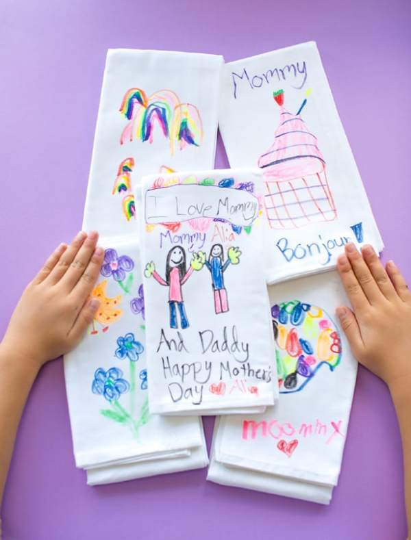 hello, Wonderful - DIY KIDS' ART TEA TOWELS: CUTE HANDMADE ...