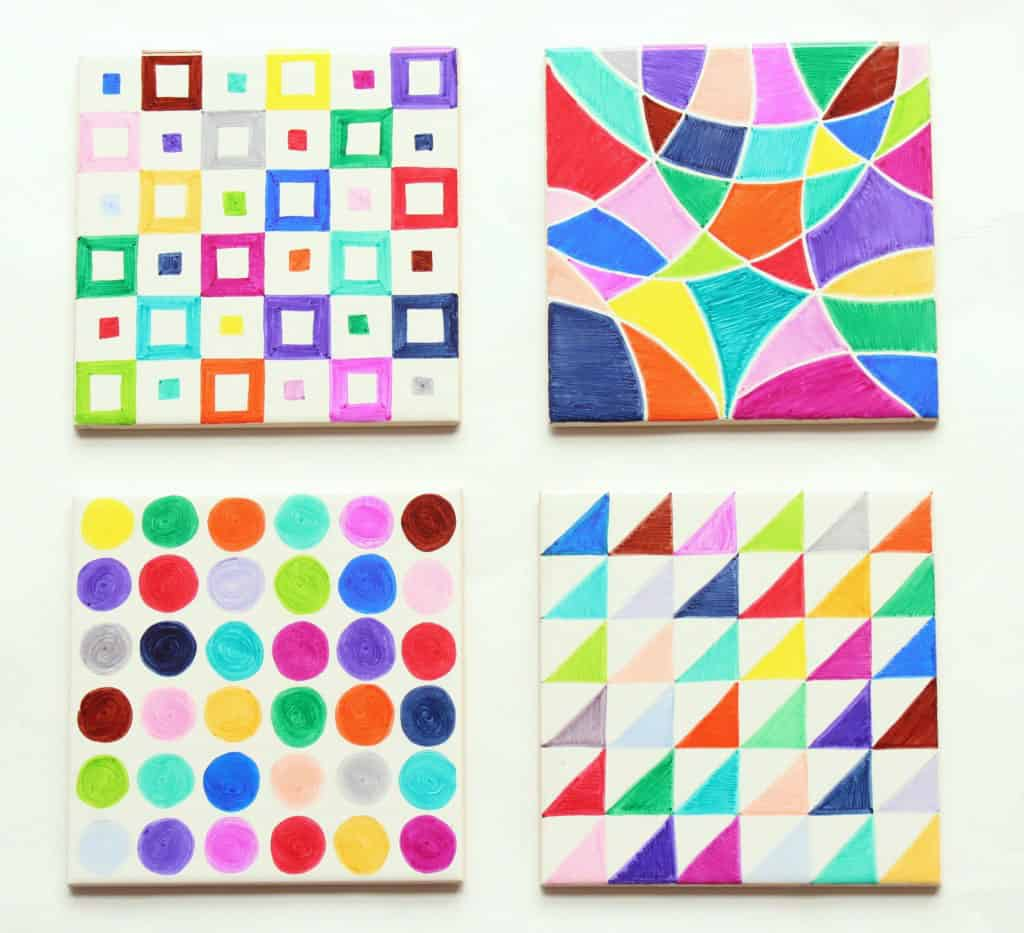 create sharpie tile art