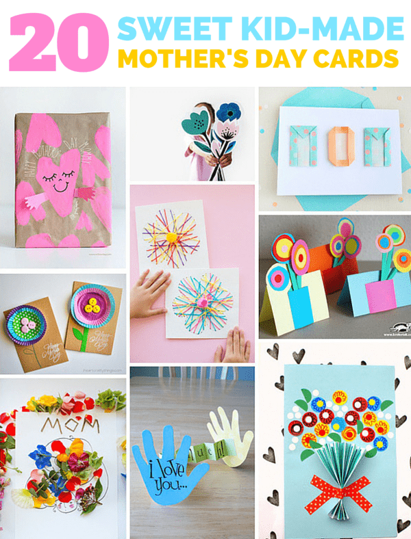 20 SWEET KID-MADE MOTHER'S DAY CARDS
