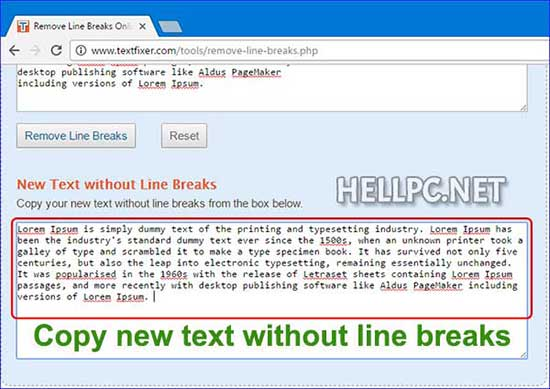 How To Remove Line Breaks Present In The Text – HELLPC NET