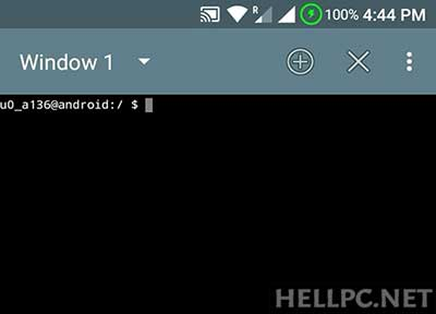 terminal emulator android commands su