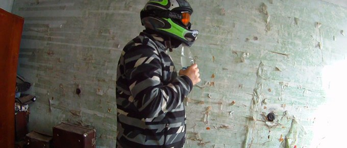 How to Drink with a Full Face Motorcycle Helmet