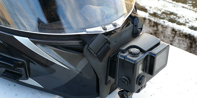 Doing a Motorcycle Helmet Chin Mount