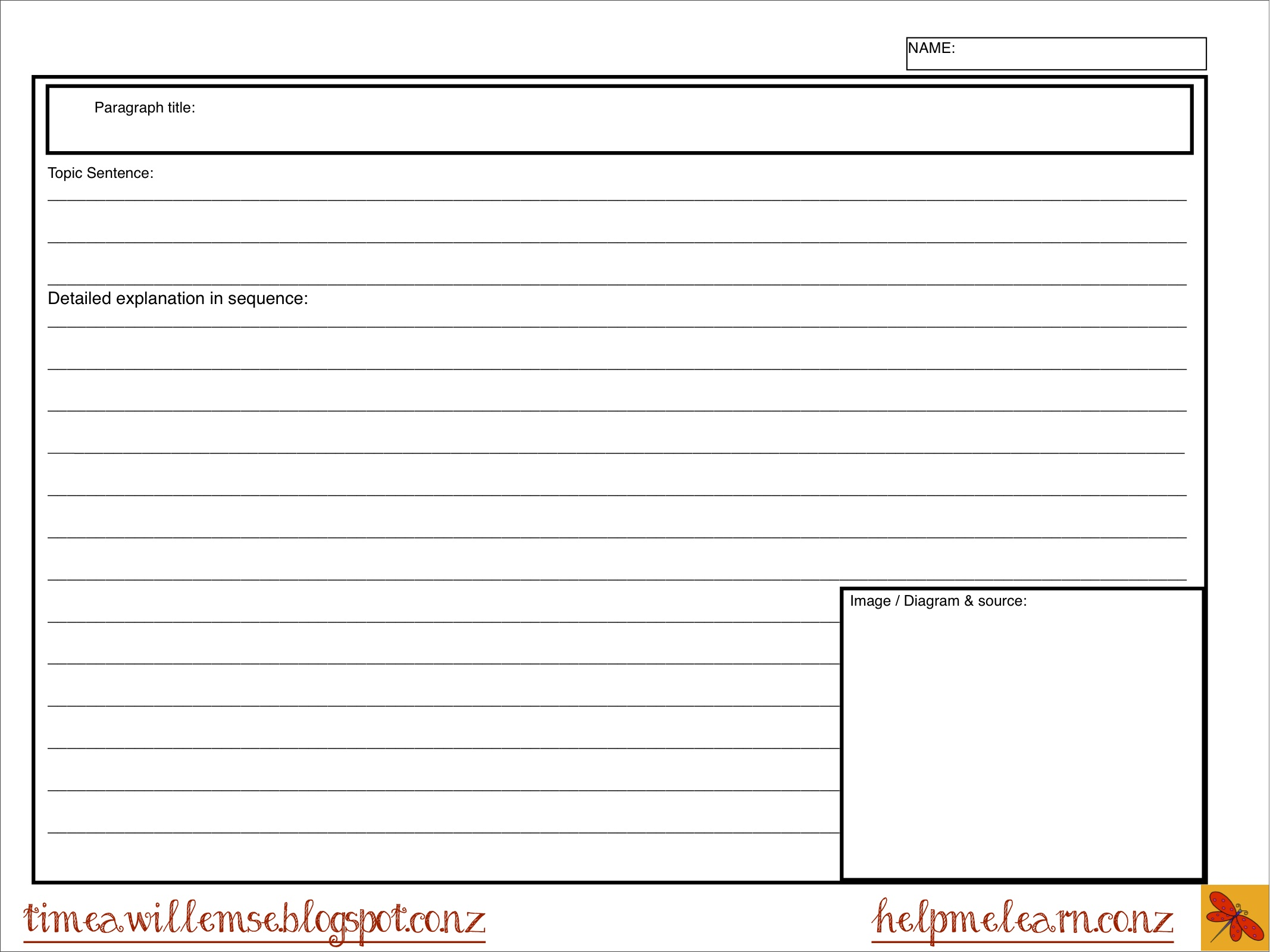 Inquiry Free Sample Note Taking Sheet
