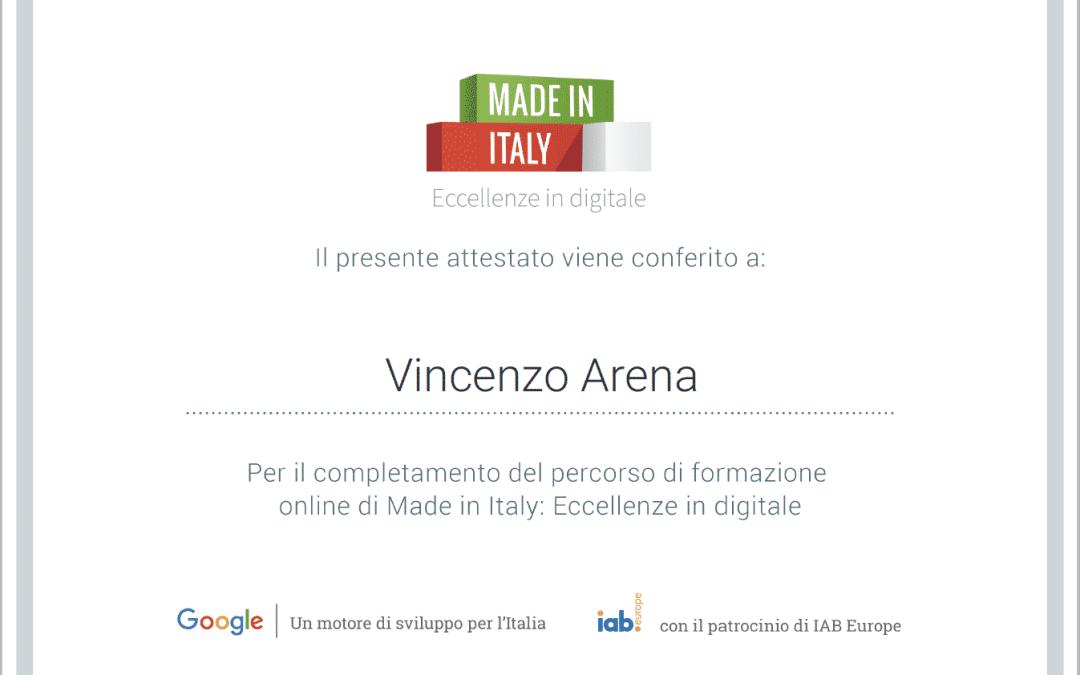 Made in Italy: Eccellenze in Digitale.