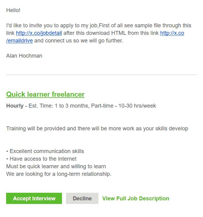 freelancer.firstname freelancer.lastname date prepared by: Fake Deals On Upwork Helper WordPress