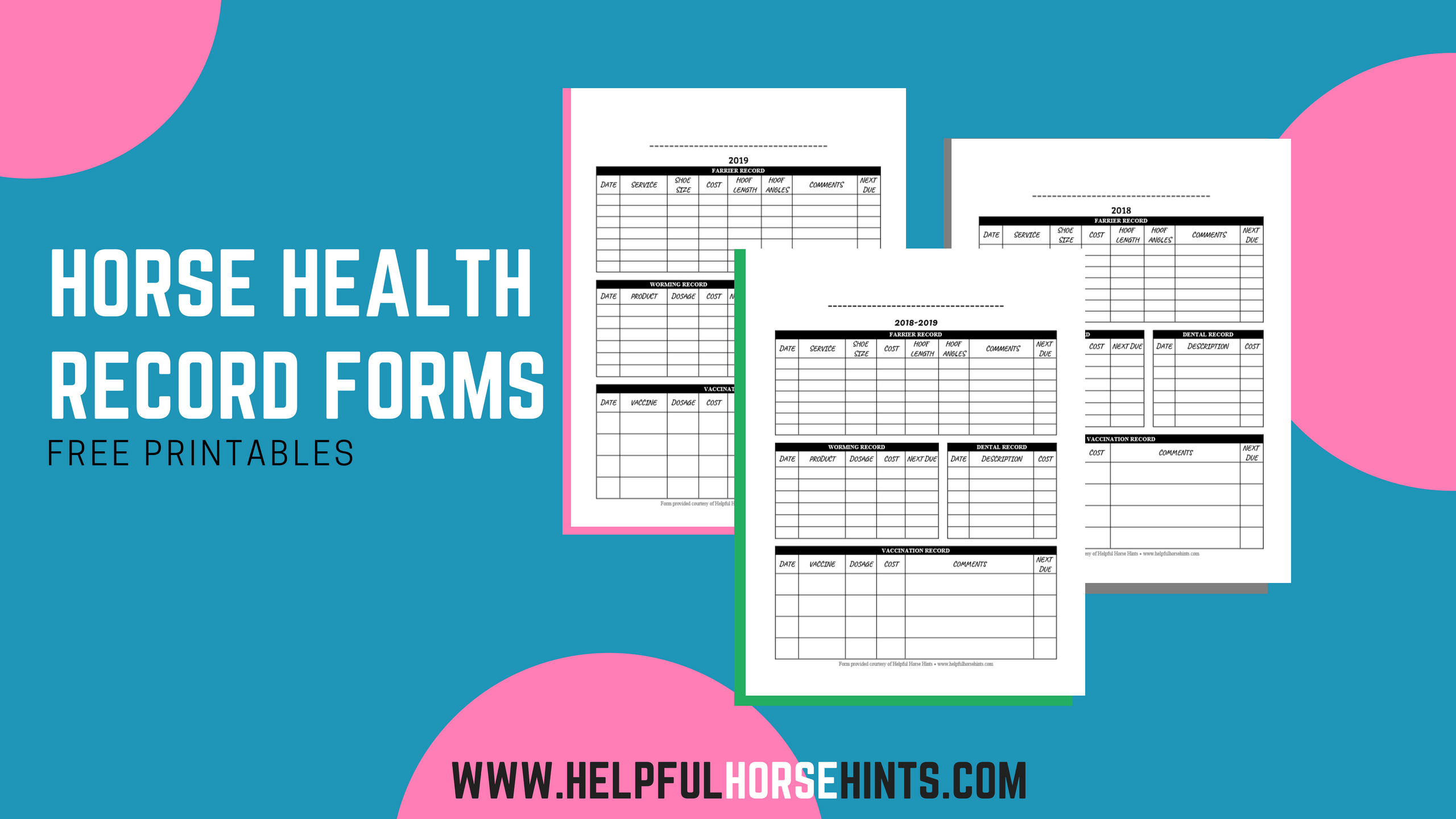 Horse Health Record Form