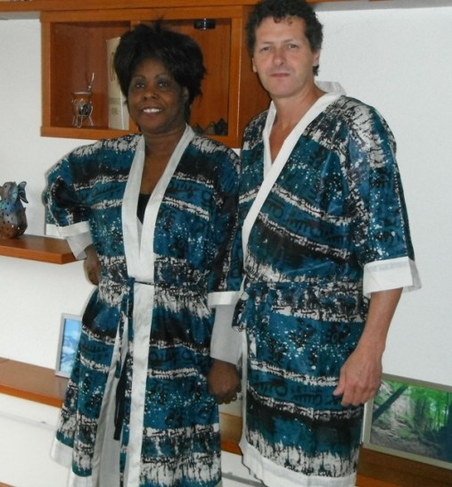 Bathrobes, his and her