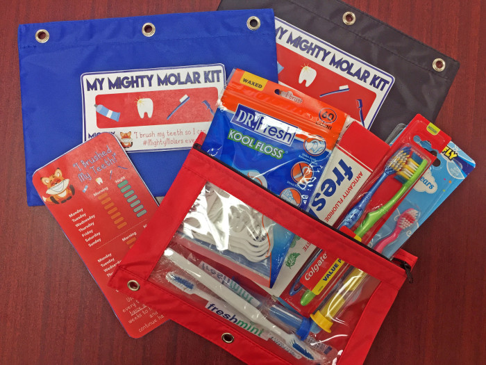 Dental hygiene kits for children in Appalachia