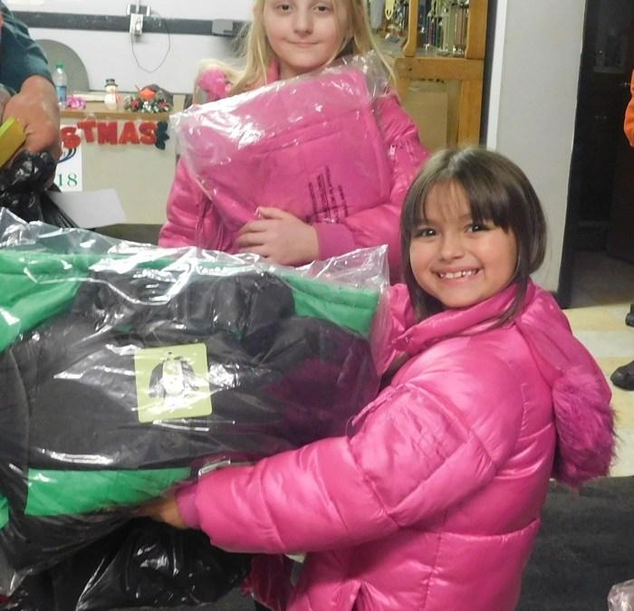 Children get winter coats in Kentucky