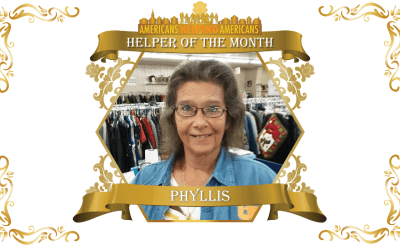 Congratulations to Phyllis Delph – Helper of the Month for February!