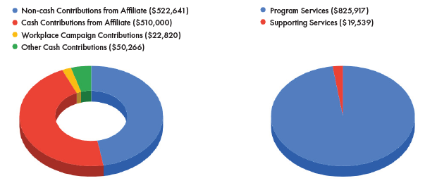 AHA Annual Report Pie Chart AHA