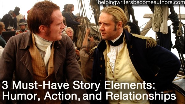 the three must-have story elements action humor and relationships