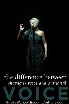 difference between character voice and authorial voice