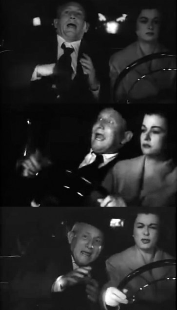 Father's Little Dividend Spencer Tracy Joan Bennett Driving to the Hospital