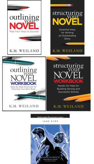 Outlining Your Novel Structuring Your Novel Workbooks Jane Eyre Writer's Digest Annotated Classic Books by K.M. Weiland