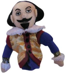 Shakespeare Magnetic Finger Puppet