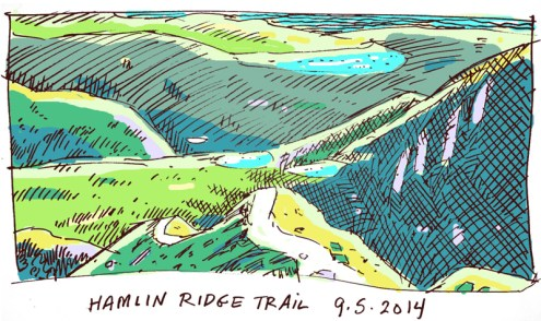 Sketch of Hamlin Ridge Trail by Bryan Wiggins