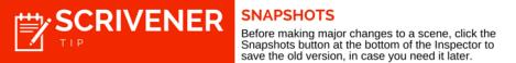 Scrivener Tip Snapshots