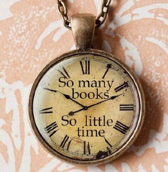12 So Many Books So Little TIme Watch Pendant