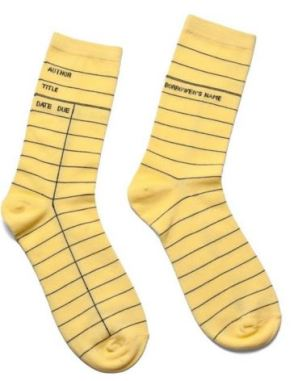 13 Out of Print LIbrary Card Socks