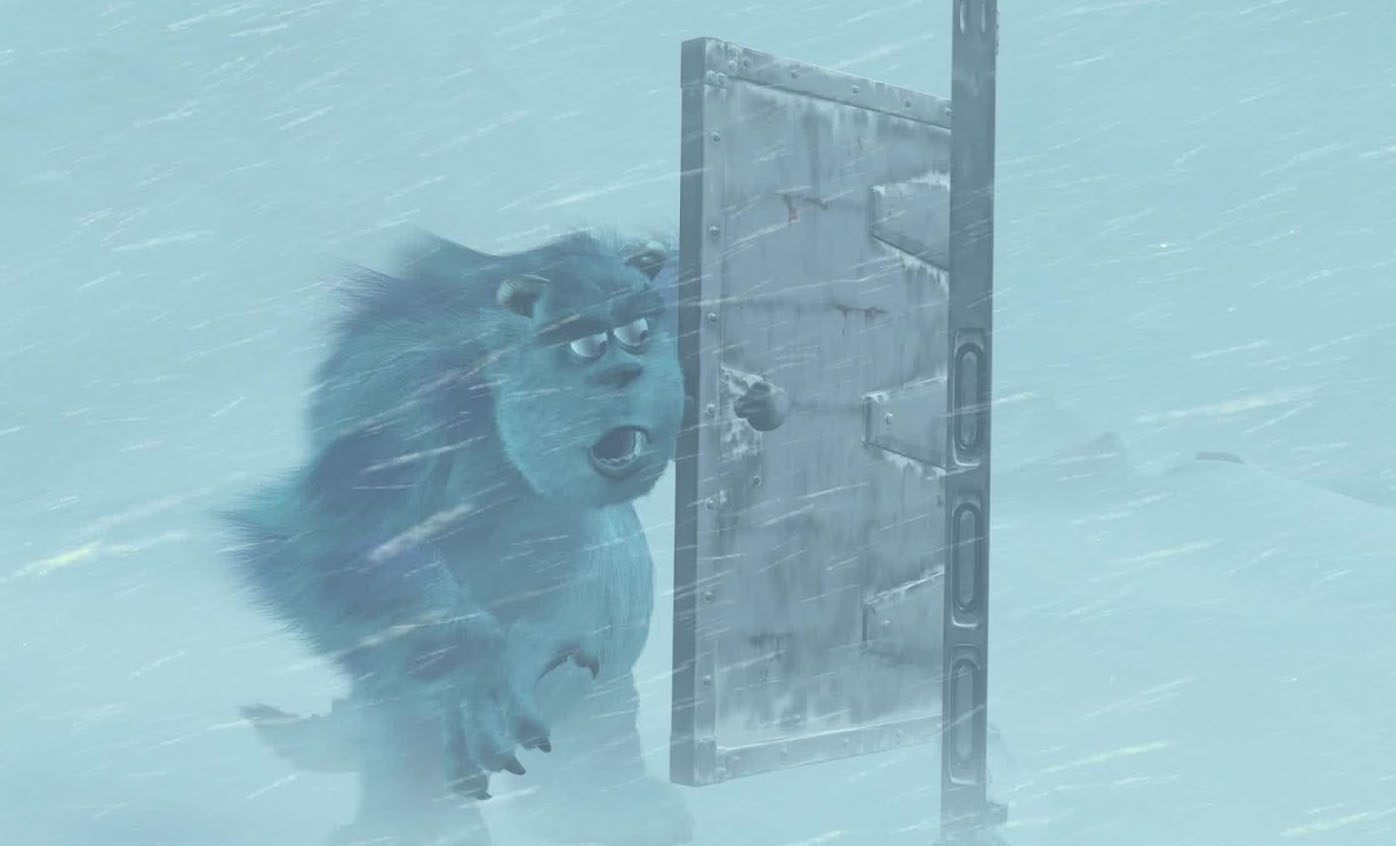Pixar Post - Monsters Inc Banished Door Slam
