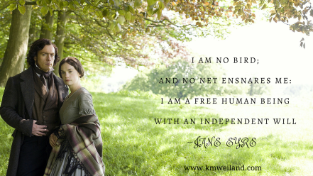 I am no bird; and no net ensnares me- I am a free human being with an independent will Jane Eyre Ruth Wilson BBC 2006 Wallpaper