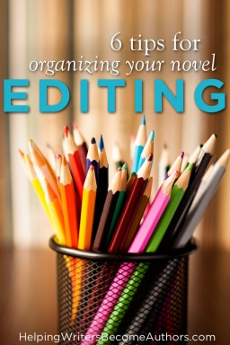 6 Tips For Organizing Your Novel Editing