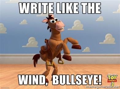 Write Like the Wind Bullseye