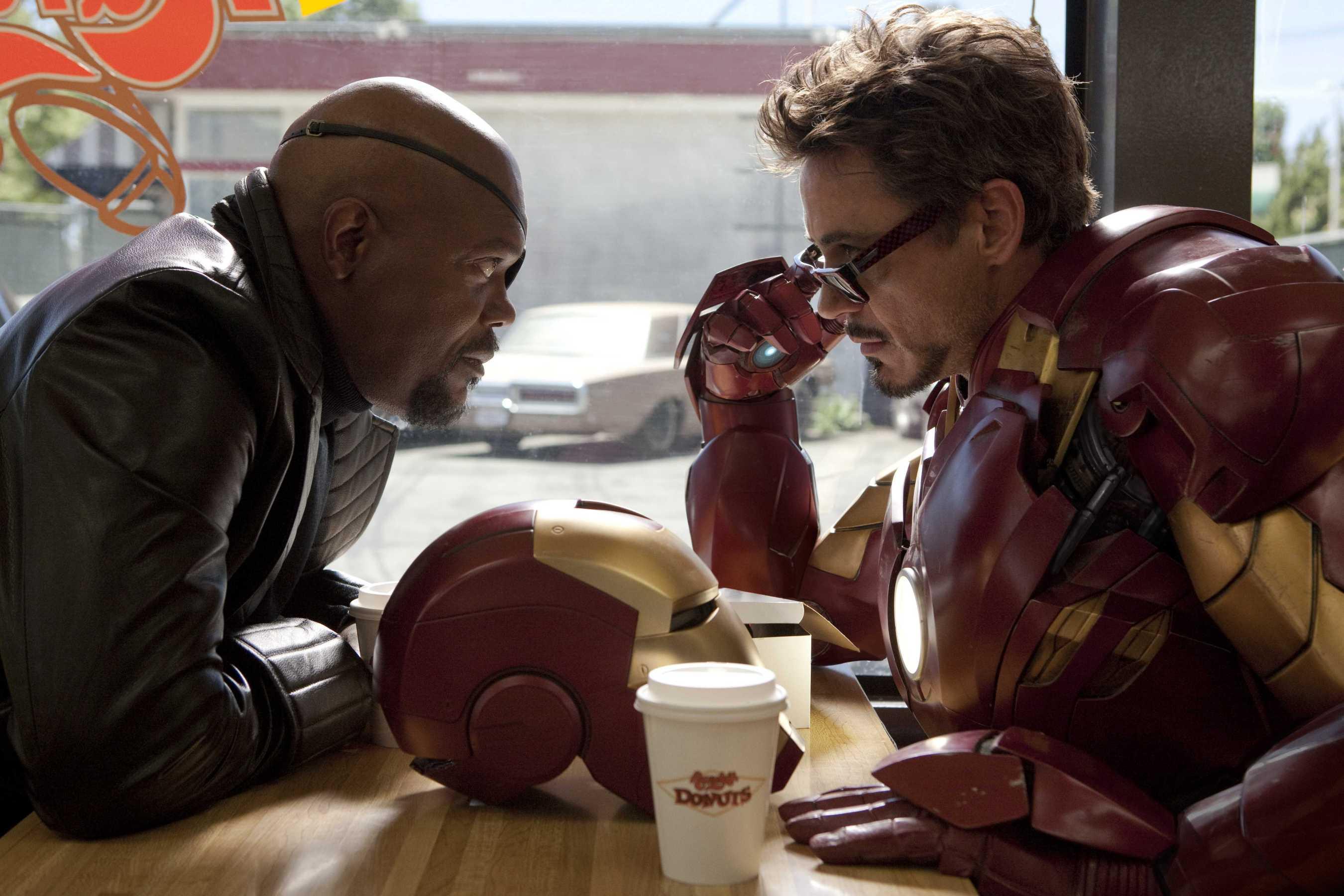 Iron Man 2 Tony Stark Nick Fury Donuts