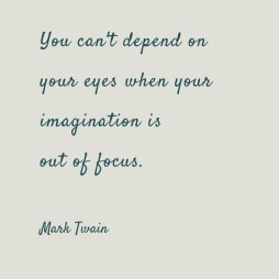 You-cant-depend-on-your-eyes-when-your imagination is out of focus Mark Twain