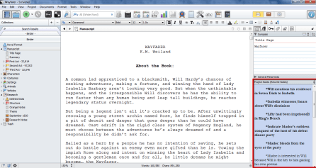 Use Scrivener to Edit Rewrite Notes