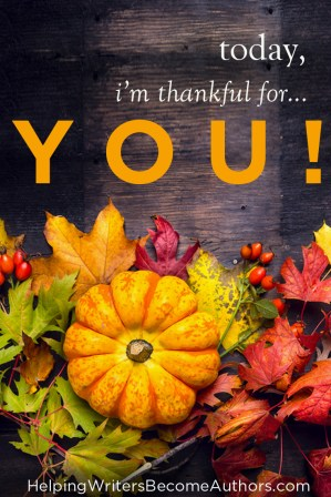 Today, I'm Thankful for... YOU!
