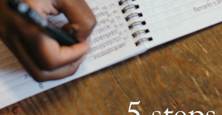 5 Steps to A Thorough Book Edit