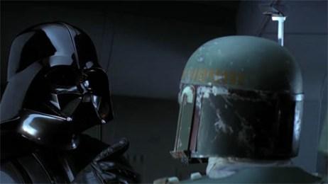 Boba Fett and Darth Vader in Empire Strikes Back No Disintegrations