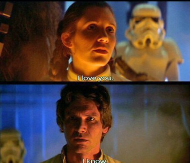 i love you i know star wars