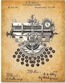 7 Typewriter Patent Print